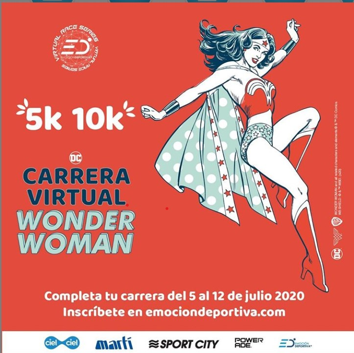 Participa en la Primera Carrera Virtual Wonder Woman 2020